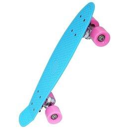 Скейтборды и лонгборды - Круизер INDIGO LS-P2206-D 56,5*15 см Голубой, 0