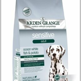 Корма  - Arden Grange GF Sensitive сухой корм для собак 12 кг., 0