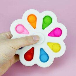 Игрушки-антистресс - Антистресс пупырка 3 в 1 - Pop it, Simple Dimple и спиннер 8 лепестков, 0