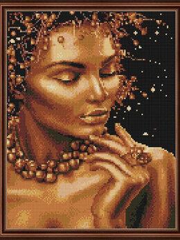 Рукоделие, поделки и товары для них - Алмазная мозаика Paintboy Девушка из золота, 0