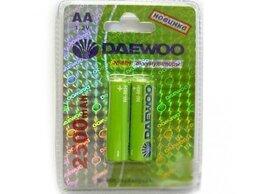 Аккумуляторы и зарядные устройства - Новые Аккумуляторы Daewoo AA2500mAh/2шт, 0