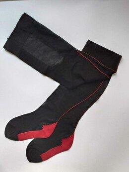 Колготки и носки - Колготки с красным швом Италия, 0