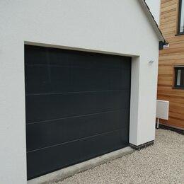 Заборы, ворота и элементы - Подъемные секционные ворота (дизайн: макрополоса) 2х2 м, 0