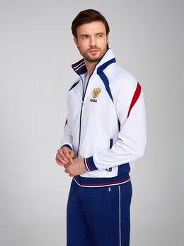 Спортивные костюмы - Мужские спортивные костюмы Россия белые(46-64), 0
