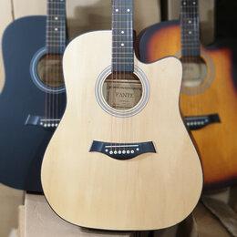 Акустические и классические гитары - Гитара дредноут цвет матовое дерево, 0