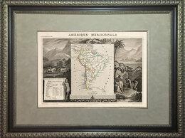 Гравюры, литографии, карты - 1850-е гг. Старинная гравированная карта Южной…, 0