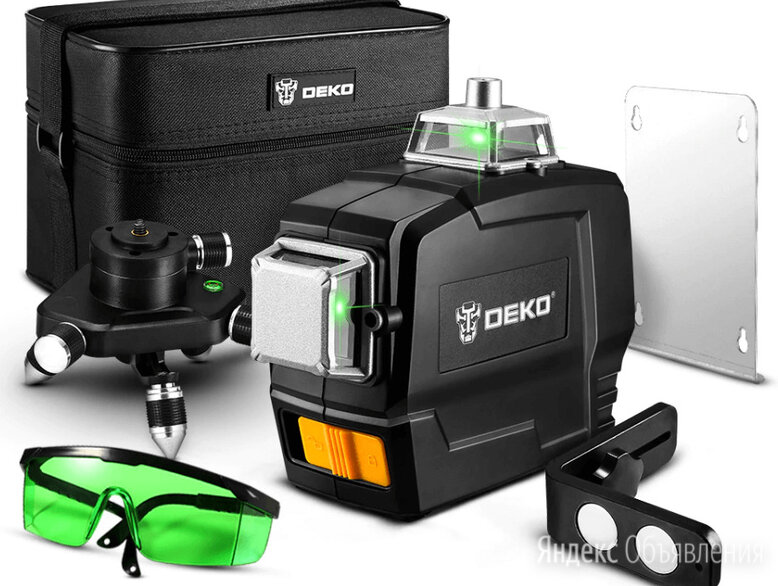 Зеленый 3D Лазерный уровень 12 линий по цене 4800₽ - Измерительные инструменты и приборы, фото 0
