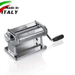 Пельменницы, машинки для пасты и равиоли - Marcato Classic Atlas 150 Roller ручная тестораскаточная машина без лапшерезки, 0