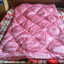 Одеяла - Пуховое одеяло 140/200 розовый атлас новое , 0