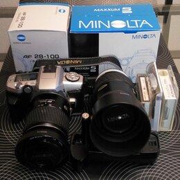 Пленочные фотоаппараты - Фотоаппарат Minolta MAXXUM 5 (DYNAX 5) с объективами и др., 0