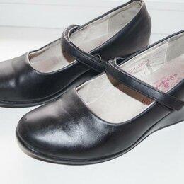 Балетки, туфли - Туфли чёрные школьные р.35 для девочки, 0