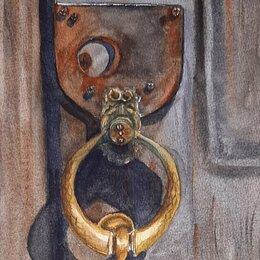 Картины, постеры, гобелены, панно - Картина акварель - дверной молоток , 0