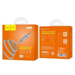 Зарядные устройства и адаптеры - Кабель USB - micro USB Hoco 2.1 А магнитный, 0
