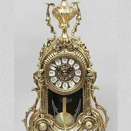 Часы настольные и каминные - Настольные часы с маятником. Бронза. Испания., 0