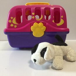 Игровые наборы и фигурки - Игрушка собака в переноске, 0