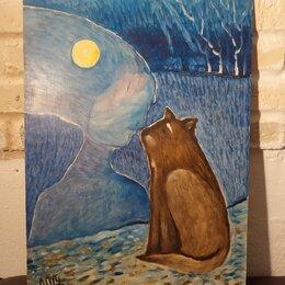 Картины, постеры, гобелены, панно - Картина «Лунный кот», 0