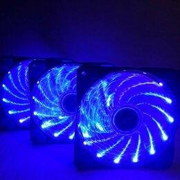 Кулеры и системы охлаждения - 3 синих вентилятора 120мм, 0