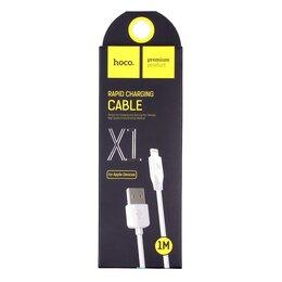 Зарядные устройства и адаптеры - Кабель Hoco Rapid X1 USB - Lightning 1 м (White), 0