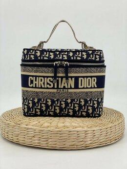 Косметички и бьюти-кейсы - Косметичка Christian Dior текстиль черная…, 0