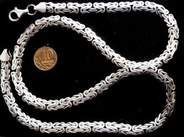 Цепи - Серебряная цепь плоский Кардинал.Вес 76…, 0