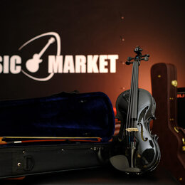 Смычковые инструменты - Скрипка 1/4 + Комплект Fabio SF3200 BK, 0