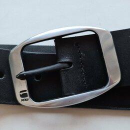 Ремни, пояса и подтяжки - ремень G-Star кожаный чёрный, 0