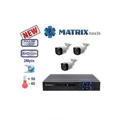 Камеры видеонаблюдения - Комплект видеонаблюдения на 3 камеры Matrix Tech., 0