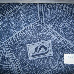 Рукоделие, поделки и сопутствующие товары - Джинсовая ткань синяя с рисунком. Отрез 10,4 м, 0