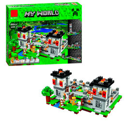 """Конструкторы - Конструктор Lari """"Minecraft"""" Мой мир Крепость 990 детали, 0"""