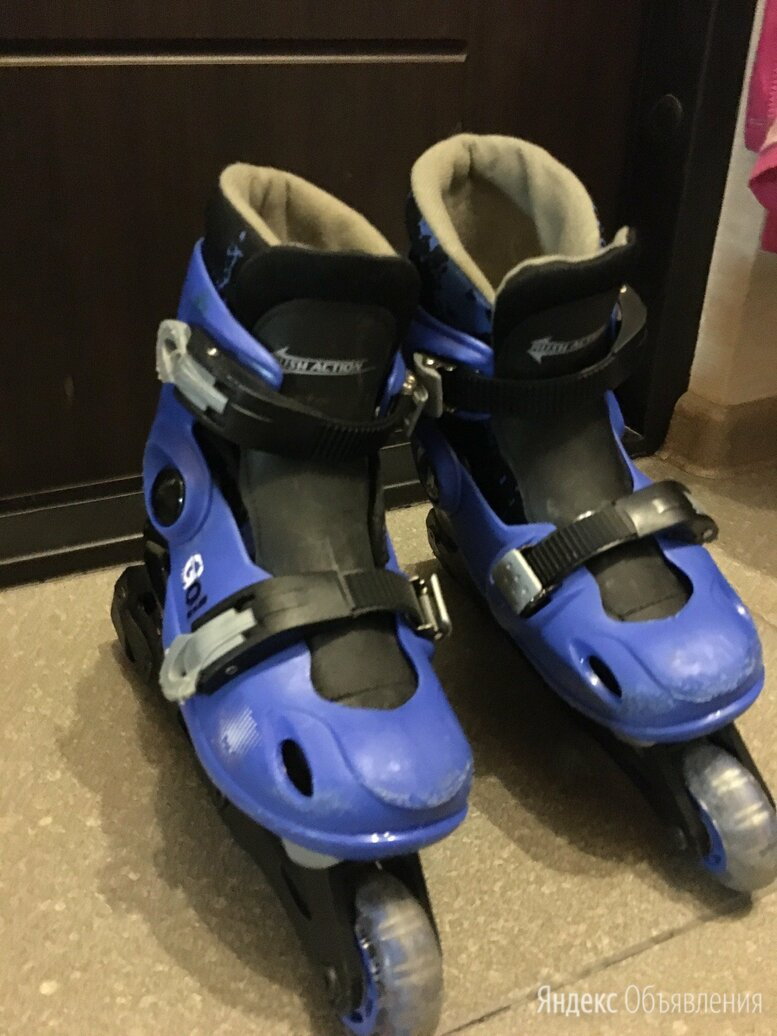 Роликовые коньки детские раздвижные размер S (30-33) по цене 600₽ - Роликовые коньки, фото 0