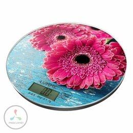Кухонные весы - Весы кухонные LUMME LU-1341 розовая гербера, 0
