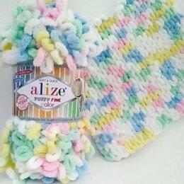 Рукоделие, поделки и сопутствующие товары - Пряжа Alize Puffy Fine Color 5949, 0