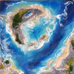 Картины, постеры, гобелены, панно - Океан, 0