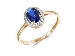 Кольца и перстни - Кольцо с 23 фианитами из красного золота, 0