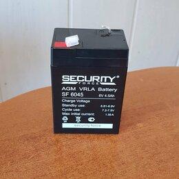 Аккумуляторы и зарядные устройства - Аккумулятор 6V 4.5Ah SECURITY FORCE свинцово-кислотный, 0