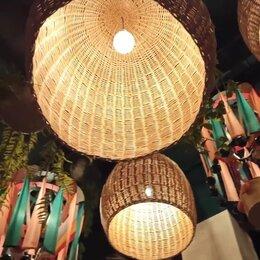 Люстры и потолочные светильники - Светильник плетеный ресторан, 0