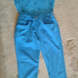 Джинсы - Комплект для мальчика 10-12 лет .Джинсы и футболка., 0