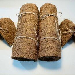 Прочие товары для животных - Комплект Дабл Кокосовый мат 25* 100 см (2шт) и Два домика для улиток Ахатина, 0