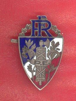 Военные вещи - Франция Четвертая республика кокарда полиция , 0
