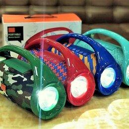 Акустические системы - Портативная Bluetooth колонка с фонариком TG-136, 0