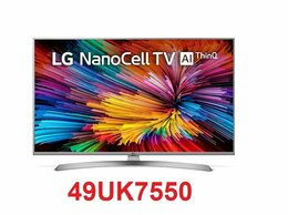 """Телевизоры - 49"""" 4K IPS LED Smart TV LG 49UK7550 NanoCell / HDR, 0"""