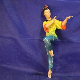 Интерьер - Редкая Статуэтка фарфор Тао Хао балет Красный мак без плинта, 0