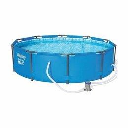 Бассейны - Каркасный бассейн 305x76 см круглый (4678 л) Bestway + фильтр-насос, 0