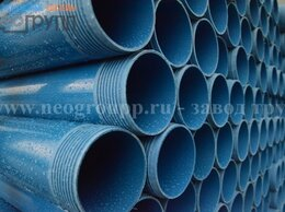 Водопроводные трубы и фитинги - Обсадная труба нПВХ D129мм, 0