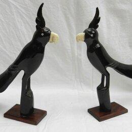 Статуэтки и фигурки - Попугаи статуэтки из натуральной кости, выс. 24 см, 0