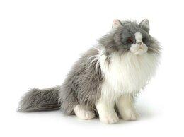 Куклы и пупсы - Hansa Персидский кот Табби серый с белым 38см 5012, 0