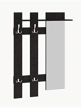 Стеллажи и этажерки - Вешалка Арт (мини) с крючками и зеркалом, 0