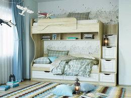 Кровати - Детская Оливия 2 Дуб Сонома/белое дерево, 0