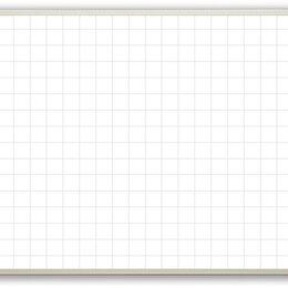 Доски - Доска магнитно-маркерная, разлинованная в клетку 100*85 см, 0