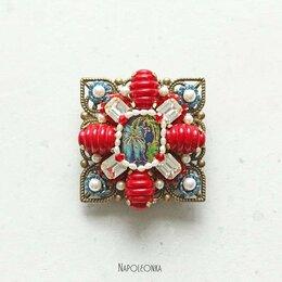 Броши - Брошь-орден с винтажными кристаллами и жемчугом…, 0